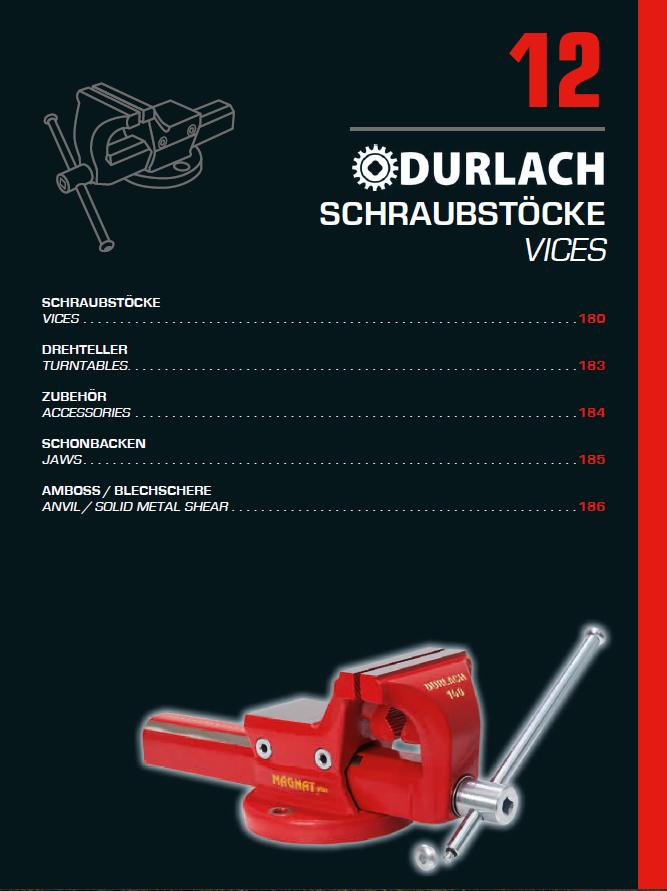 12 Schraubstöcke Durlach